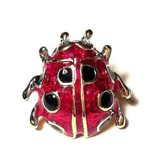 Gold Ladybug Pin Brooch Lapel Tie Hat Tac Insect